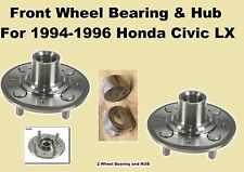 Front Wheel Bearing and Hub Fit For 1994 1995 1996 Honda Civic LX have ABS(pair)