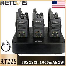 Retevis Rt22S Frs WalkieTalkies License-free Ctcss Vox Alarm Radio+6-Way Charger