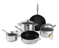 HSN Wolfgang Puck Cookware Set, 9 Piece, Stainless Steel, 627505
