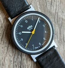 Vintage 1989 BRAUN AW10 Watch mod 4789 w/ Box & Paper, Made in Germany, NEW Batt