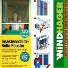Windhager Insektenschutz Rollo Fenster 160x160cm Weiß Fliegengitter 03866