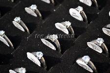 Wholesle lots 5pcs 316L stainless steel Zirconia Woman Rings Titanium Wedding