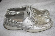 Sperry Top Sider Women Gold Metallic Boat Shoe Size 10M