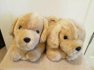 Fuzzy Puppy Dog Slippers with non-slip bottom / Size Medium