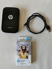 HP Sprocket 100 Printer Black + Pack Of 20 Zink Photo Sheets