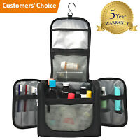 Large Capacity Hanging Travel Toiletry Bag - Water Resistant Machine Washable