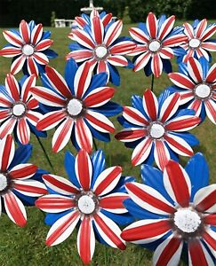 12 Metal Union Jack Garden Flower Metal Stake *FREEPOST*