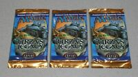 MTG URZA'S LEGACY EMPTY BOOSTER PACK X3 (NO CARDS) MAGIC THE GATHERING FREE P&P