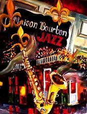 "TIN SIGN ""New Orleans Jazz""  Music Garage Wall Decor"