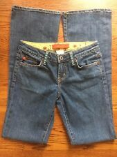 Level 99 Bootcut Med Wash Jeans w/ Turquoise Studded Belt Loops Sz 26 (T#1363)