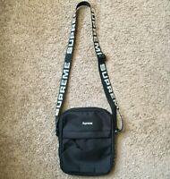 Supreme Cordura Black Travel Shoulder Bag SS18 Box Logo money pouch FW18