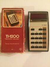 Texas Instruments TI-1200 Electronic Calculator with Box