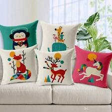 HD Digital Print in Multi Color Jute Cushion Cover 16x16 Set of 5 with