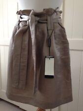 Emporio Armani Femme Crème Sac Papier Style Jupe Taille 16 IT 46 Neuf avec étiquettes