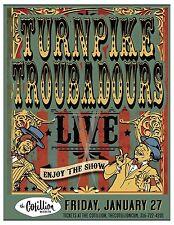 "TURNPIKE TROUBADOURS ""LIVE ENJOY THE SHOW"" 2017 WICHITA CONCERT TOUR POSTER-Folk"
