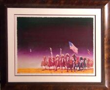 """Earl Biss """"The Green Green Grass Of Home"""" on Paper framed Hand Signed"""