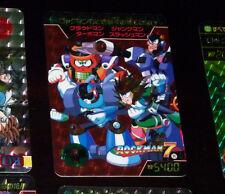 ROCKMAN 7 (MEGAMAN) CARD PRISM HOLO CARD N° 2 RARE MADE JAPAN 1995 CAPCOM **