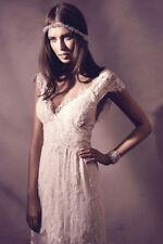 2016 White/ Ivory Vintage Lace Bridal Gown Wedding Dress Custom Size 6 8 10-16++