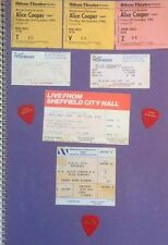 ALICE COOPER (1980-90s Scrapbook Collection-Tickets)