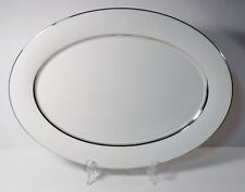"""Oxford WHITE ECHO 16"""" Oval Platter EXCELLENT"""
