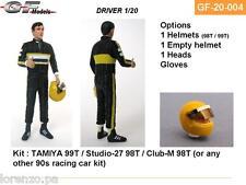 PILOTA F1 DRIVER PLASTIC KIT SENNA 1/20 GF MODELS 20004