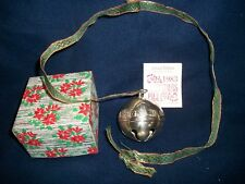 Vintage 1983 Wallace Silversmith Silver Bell Christmas Ornament With Box