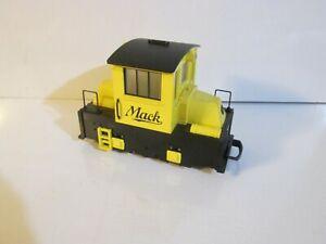 Vintage HLW Hartland Locomotive Works G Scale Yellow Mack Engine Powered 09701