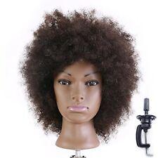 Afro Tête À Coiffer Coiffure 100% Cheveux Naturel Cosmétologie Pratique  ...