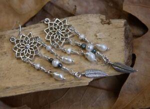 Freshwater Pearl Flower Earrings Fine Sterling Silver New Jewelry Free Post