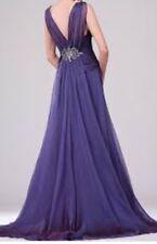 Edressit Beaded Night Dress Gown Night Dress Size 12 Purple