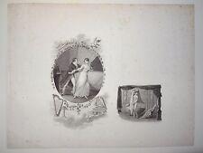 Un ensemble de deux gravures d'illustration d'après CHOQUET par DELVAUX