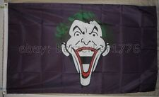 The Joker head 3'x5' Purple Flag Batman Riddler Catwoman Robin - USA Shipper 2