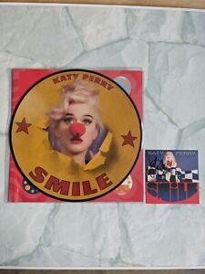 💥Katy Perry Smile Clown Limited Disc Picture Vinyl with Signed Artcard 💥