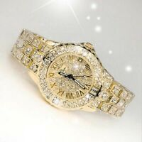 Women Fashion Simulate Diamond Watch Ladies Fashion Jewelry Quartz Wristwatch