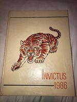 1986 GRISSOM HIGH SCHOOL YEARBOOK HUNTSVILLE, ALABAMA   INVICTUS Tigers