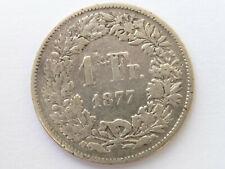 H238        SCHWEIZ 1,- Franken 1877