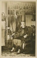 Dressed Up Couple Real Photo Postcard rppc