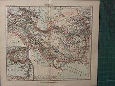 1897 carte antique ~ Perse Ariana Arménie BABYLONIA d'Assyrie bactriana