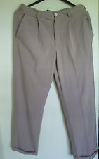 Men Nike Dri Fit Beige Pleat Golf Pants 34 X 30