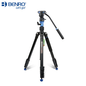 "Benro Travel Video Tripod Kit Aero 2 A1883FS2C Converts To Monopod 64.8"""