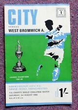 FA Charity Shield 1968 Manchester City v West Bromwich Albion