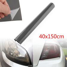 40x150cm Light Cover Film Waterproof Sunproof Gloss Black Smoke Headlight Cover