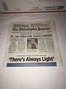PHILADELPHIA INQUIRER 1/20/21 JOE BIDEN #46 INAUGURATION NEWSPAPER JANUARY 20