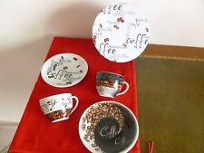 RAVISSANT ENSEMBLE DUO A CAFE NEUF TASSE + SOUCOUPE  EN BOITE CADEAU