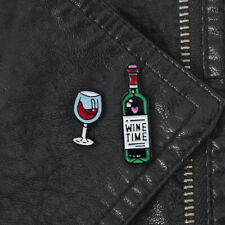 Badge Collar Brooch Pin Lapel Jewelry Prec Hd_ New Letter Wine Time Bottle Glass