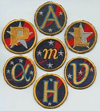 Babylon 5 - 7 assorted embroidered Ea Ship Patches - Set of 7