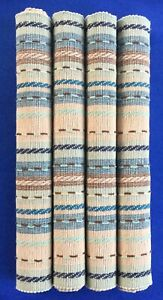 4 BOBBY FLAY SERAPE BLUE PLACEMATS NEVER USED