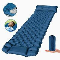 Camping Sleeping Pad Ultralight Backpacking Air Mattress with Pillow 3 Inch Thic