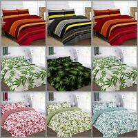 Duvet Cover with Pillow Case Quilt Cover Bedding Set Red Black Green Teal