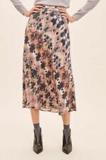 Anthropologie Kachel Tie Dye-Print 100% Silk Skirt Size 8 RRP £148